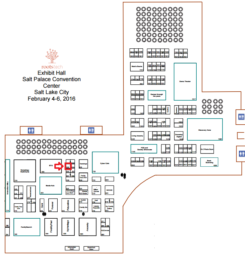 RootsTech vendor map